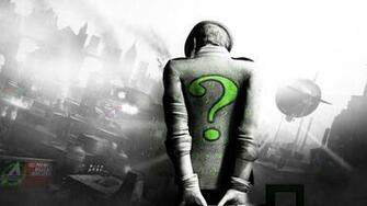 city riddler riddler zagadochnik green question mark wallpaper