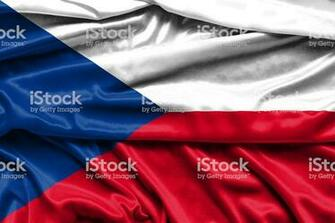 Flag Of The Czech Republic Fabric Background Wallpapers Stock