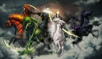 Four Horsemen Of The Apocalypse Fantasy Wallpapers