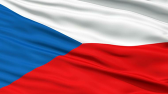 Czech Republic Flag Close Up Realistic Animation Seamless Loop