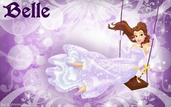 Purple Belle Wallpaper   Disney Princess Wallpaper 31673208