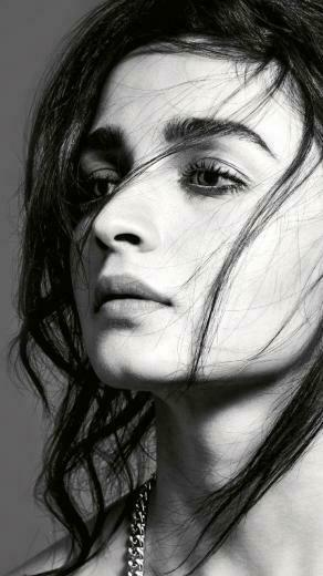 Bollywood Alia Bhatt monochrome 720x1280 wallpaper Celebrity