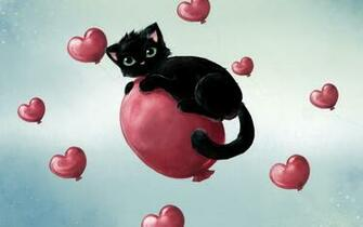 Desktop backgrounds Backgrounds Holiday Valentines Day kitten