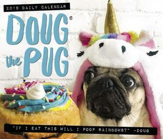 Doug the Pug 2019 Box Calendar Dog Breed Calendar Leslie Mosier
