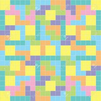 Tetris Background Pastel Colorsillustration Royalty Cliparts