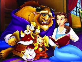 Disney Beauty and The Beast Cartoon Wallpaper