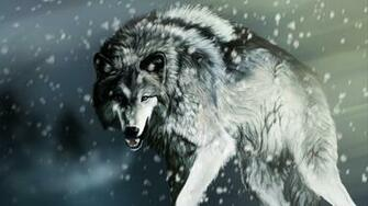 White Wolf Snow Pictures HD Wallpaper of Animals   hdwallpaper2013com