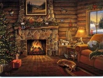 Christmas Desktop Wallpapers Christmas Fireplace Desktop