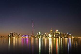 and Places Pictures and Info toronto skyline at night wallpaper
