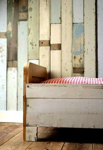 Amazing wallpaper that looks like salvaged wood bath ideas
