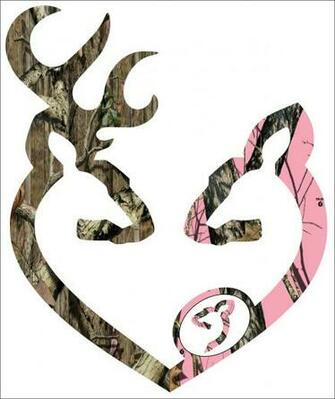 Camo Browning Decal Browning style camo and pink