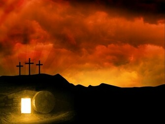 Easter Resurrection Background Quote