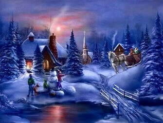Desktop wallpaper winter scenes
