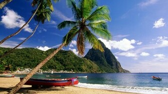 45 Caribbean Island Beach HD Wallpaper