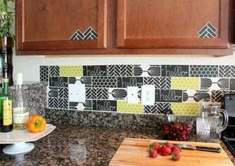 15 Ideas for Removable DIY Kitchen Backsplashes Renters Solutions
