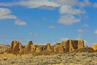 wallpaper background Ancient Ruins Pueblo Bonito New Mexico