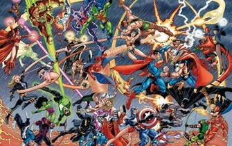 Marvel vs DC Wallpaper 570x356 Marvel vs DC Wallpaper