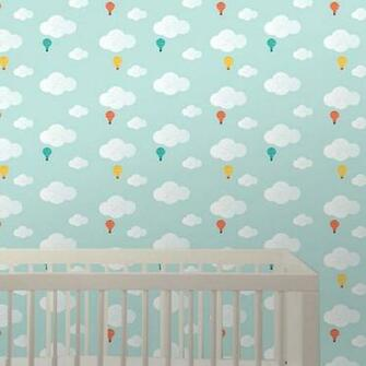 Wee Gallery Baloons Peel Stick Wallpaper   Wall Sticker Outlet