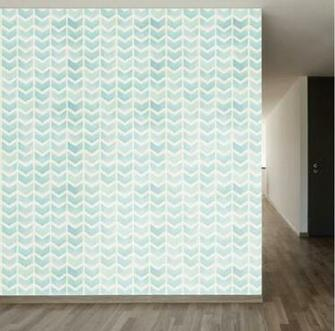 Faded Blue Chevron Removable Wallpaper Stencils Pinterest