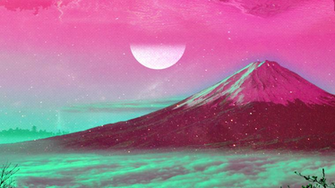 Vapourwave styled mount Fuji [1920 1080] wallpapers