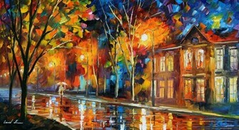 landscapes cityscapes Leonid Afremov traditional art Wallpapers