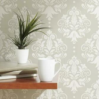 Damask Removable Wallpaper Tile