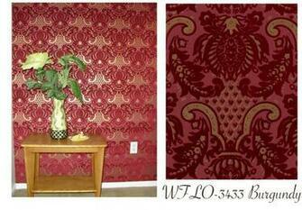 wallpapers walls flock velvet wallpaper burgundy flock on burgundy