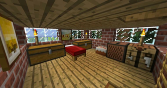 Minecraft Bedroom 2nd floor by Ceej95
