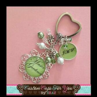 PERSONALIZED Pastel Green Background Name or Initial Flower Bezel With
