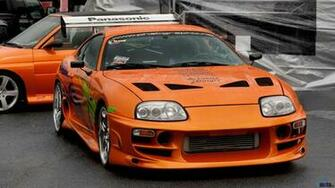 Wallpaper Toyota Supra after rain 1600 x 900 widescreen Desktop