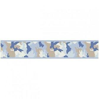 Camo Blue Wallpaper Border by Sweet Jojo Designs