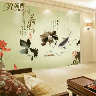 wallpaper ink traditional Chinese painting mural non woven wallpaper