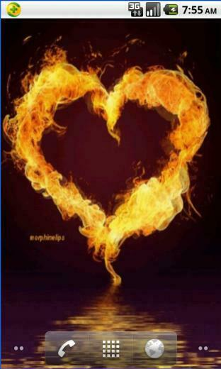 Heart Of Fire Live Wallpaper android live wallpaper
