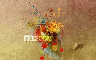 And maybe freedom is a colourful butterfly