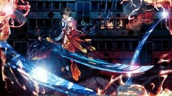 Tie Anime Wallpaper 1920x1080 Tie Anime Girls Swords Guilty Crown