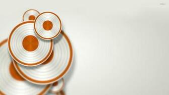 White and orange discs wallpaper   3D wallpapers   19304