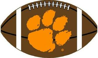 Pin Clemson University Tiger Paw Logo