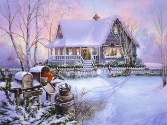 Winter Scenes Christmas Art 03