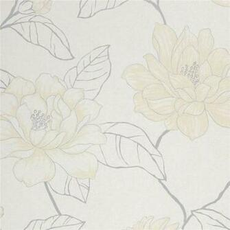 Cream Grey White   75013   Florine   Amilie   Harlequin Wallpaper