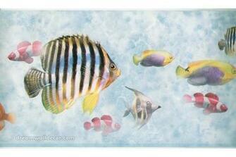 Bluish Grey Under The Sea Wallpaper Border