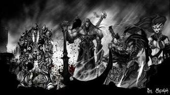 Darksiders The Four Horsemen Darksiders wallpaper game all