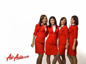 Air Asia flight attendants are taking the promotional photography for