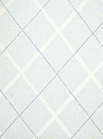 Trellis Wallpaper Blue and White diamond trellis childrens wallpaper