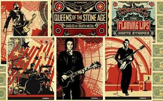 rock inspired obey giant wallpaper i put together from their posters