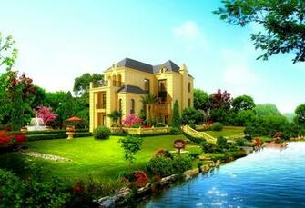 Beautiful house wallpaper 10490 PC en