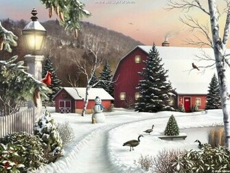 Drawing Painting Scenic Winter picture nr 40757