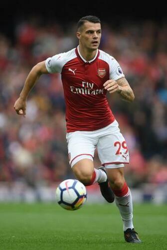 Granit Xhaka Arsenal V Brighton And Hove Albion   Alex Johnson