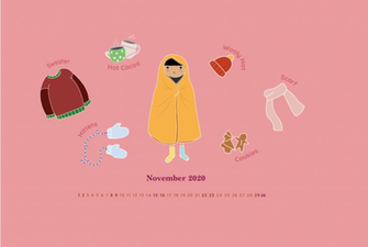 November 2020 HD Calendar Wallpaper Monthly Calendars Calendar