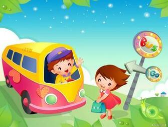 Kids School Bus Cartoon High Resolution Wallpapers Download