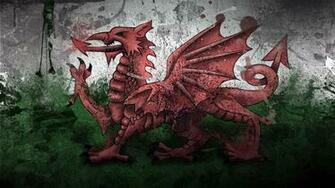 Download wallpaper 1280x720 wales dragon symbol flag paints